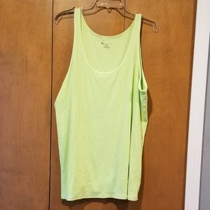 Neon green rib knit tank 26/28 Lane Bryant